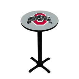 Ohio State Buckeyes Pedestal Pub Table, Style 2