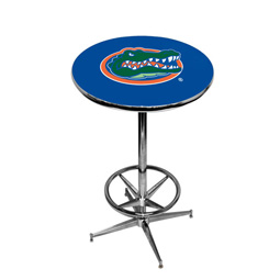 Florida Gators Pub Table w/Chrome Foot Ring Base, Style 1
