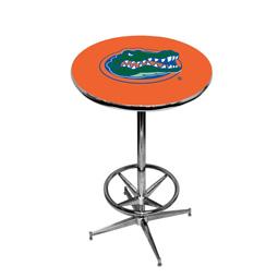 Florida Gators Pub Table w/Chrome Foot Ring Base, Style 2