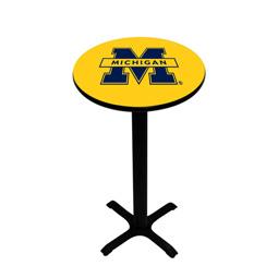 Michigan Wolverines Pedestal Pub Table, Style 1