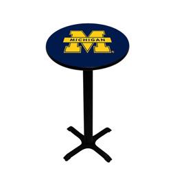Michigan Wolverines Pedestal Pub Table, Style 2